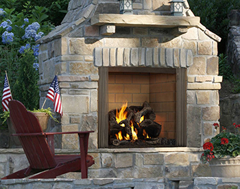 Heat & Glo HHT Wood Castlewood Outdoor Fireplace