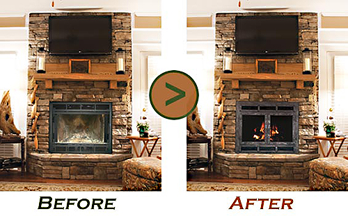 Stoll Fireplace Doors Before and After