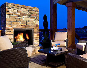 Town & Country TC36OD Outdoor Fireplace