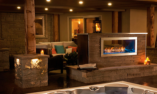 Napoleon Outdoor Gas Fireplace